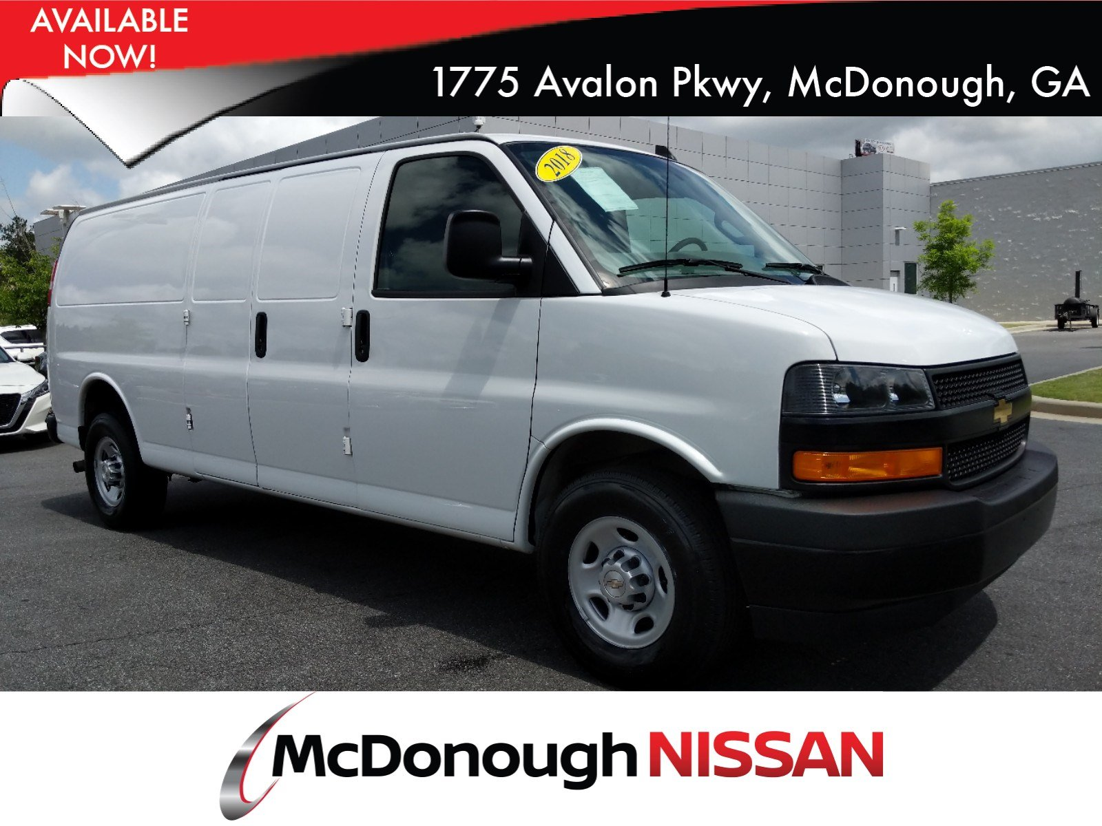Pre Owned 2018 Chevrolet Express 2500 Work Van 3d Extended Cargo Van